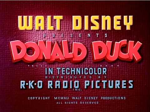 Truant Officer Donald 1941 Recreation Titles YouTube