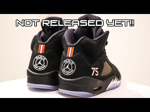 51dcc0f6fe7 Air Jordan 5 PSG EARLY RELEASE Review at Kickstw - YouTube