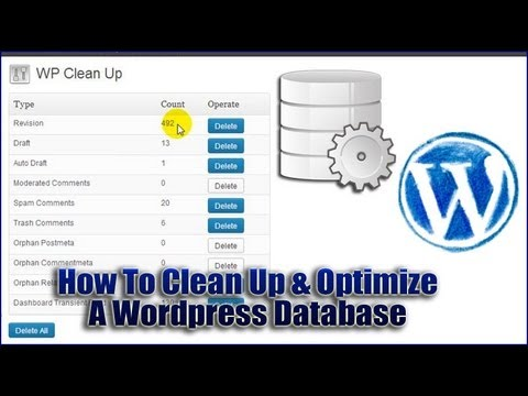How To Clean Up & Optimize a WordPress Database with WP Clean Up