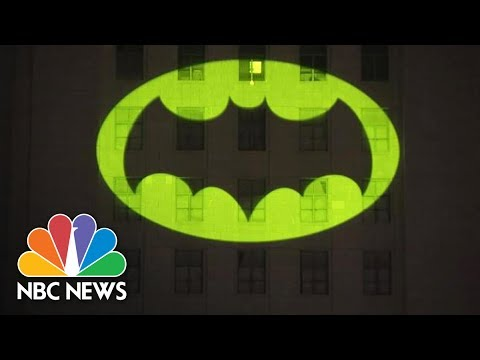 Bat Signal Shines On L.A. City Hall For Adam West | NBC News
