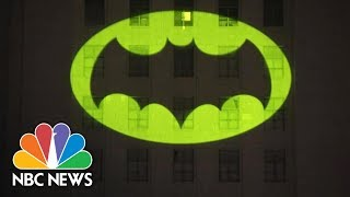 Bat Signal Shines On L.A. City Hall For Adam West | NBC News