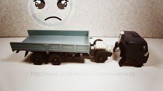 Машинки. Ремонт модели КамАЗ СССР(Машинки. Ремонт масштабной модели грузового автомобиля КамАЗ, изготовленной еще в СССР. КамАЗ выполнен..., 2016-01-20T16:51:01.000Z)