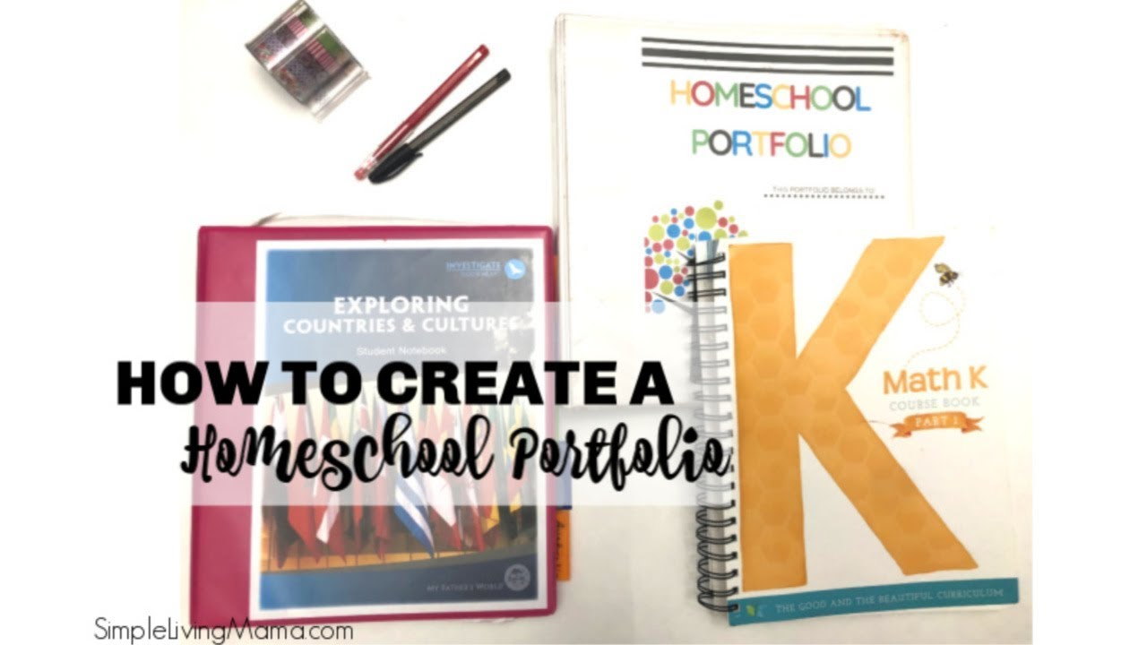 graphic relating to Printable Portfolio called How Towards Mounted Up a Homeschool Portfolio with Free of charge Printables