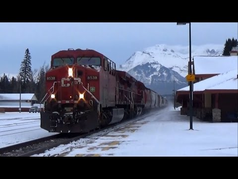 Canadian Pacific 4 Trains @ BANFF AB CANADA!!!
