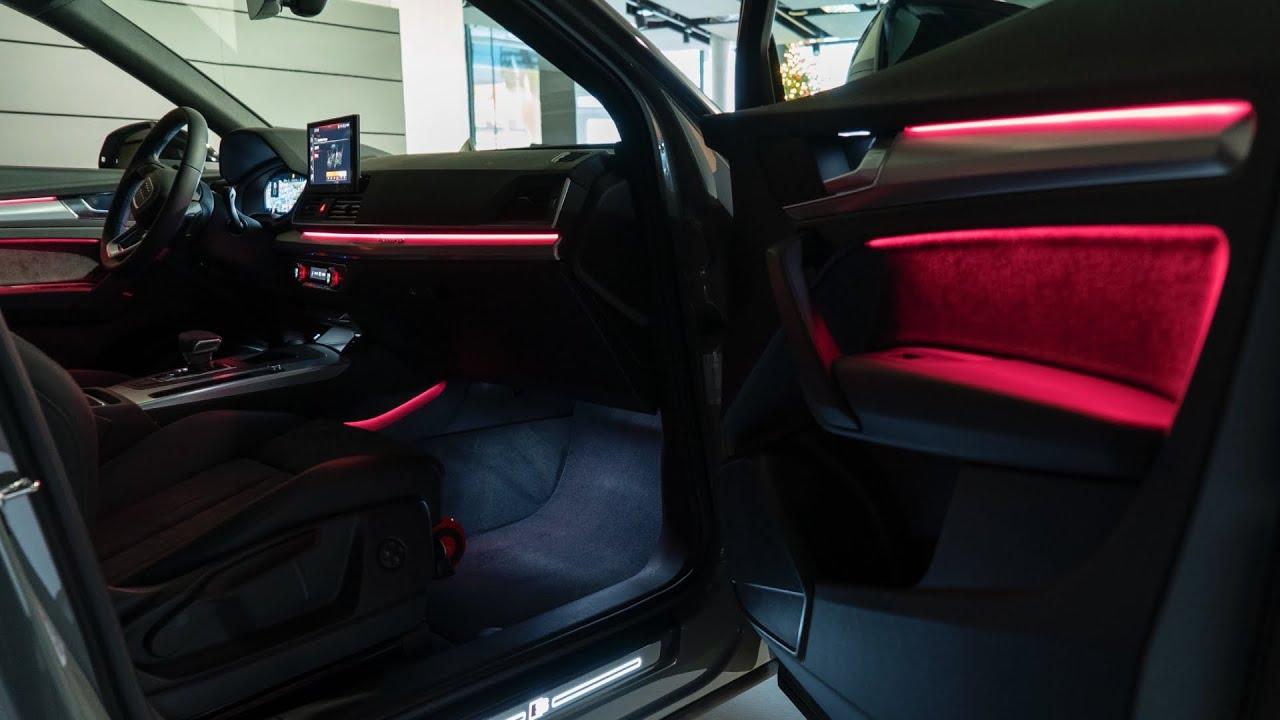 2021 audi q5 light show digital oled rear lights effects front matrix led interior ambient light