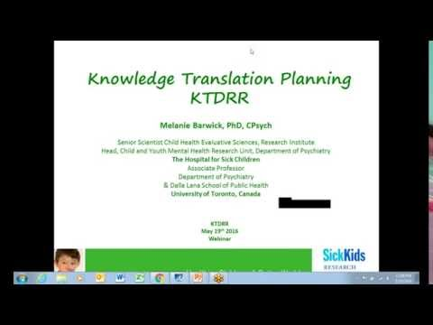 Plain Language Knowledge Translation Planning with Dr. Melanie Barwick