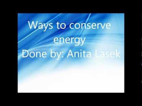 Ways To Conserve Energy