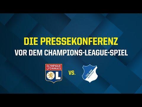 Die Pressekonferenz vor dem Champions-League-Spiel gegen Olympique Lyon