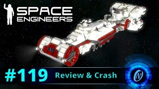 Star Wars - CR90 Corvette Review and Crash! Space Engineers Part 119