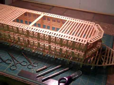 Matchitecture Match Stick Model Paddle Boat Kit Youtube