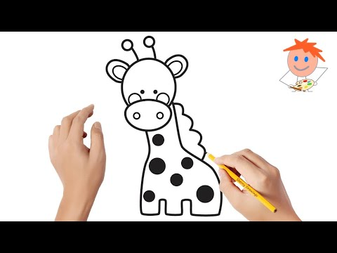 How To Draw A Cute Giraffe Easy Step By Step | Drawing For Kids 💖
