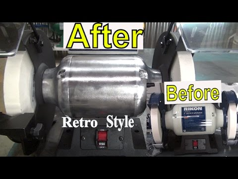 Customize a New Rikon Bench Grinder * Retro Style polish & Dust port addition * Trick Your Tools