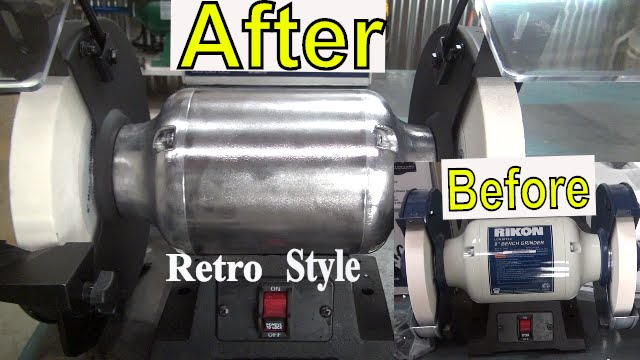 Customize A New Rikon Bench Grinder Retro Style Polish
