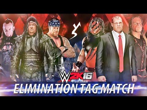 WWE 2K16 - UNDERTAKER Vs KANE | 6 Man Elimination Tag Team Match | PS4 Gameplay
