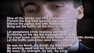 funeral blues stop the clocks wh auden four weddings and a funeral scrolling words