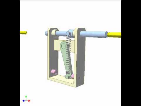 Spring toggle mechanism 10 - YouTube