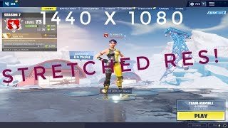 How To Change Your RES in Fortnite (without monitor settings)