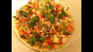 Сытный закусочный салат