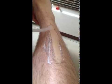 крем для депиляции на ноге у парня