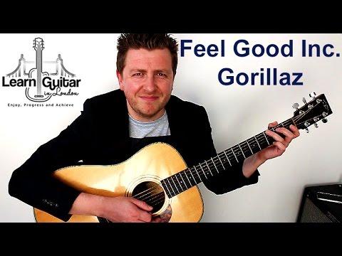 Feel Good Inc. - Easy Guitar Lesson - Gorillaz - FREE TAB - Drue James