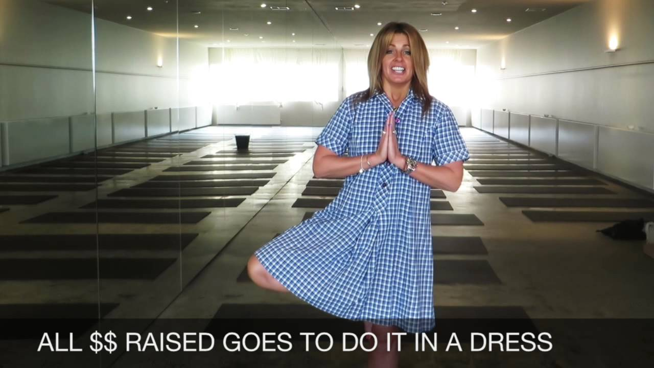 4c8bda72b4 JOIN ME FOR HOT YOGA IN A SCHOOL DRESS - YouTube