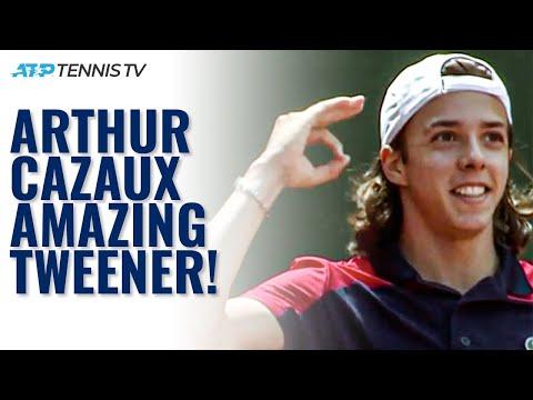 Unreal Tweener Winner by 18-year-old Arthur Cazaux on his ATP Debut in Geneva!