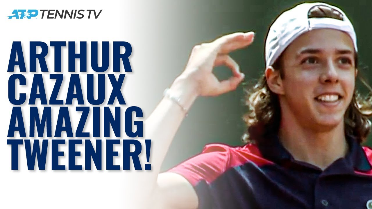 UNREAL Tweener Winner by 18-year-old Arthur Cazaux on his ATP Debut in Geneva! #Shorts