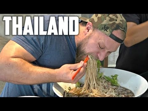 Thailand Street Food, FLOATING Markets, 11LB GIANT NOODLE & Railway Market | Furious World Tour