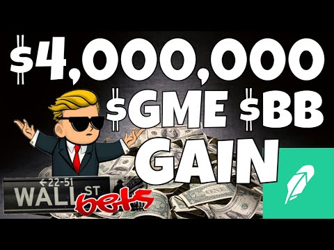 $4,000,000 GAINS ON GME   WallStreetBets Options Trading Gamestop and BB On Robinhood