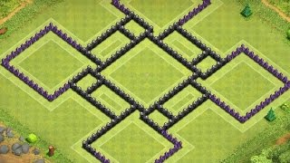 Best Trophy Base for TH9 (4 Mortars) - Clash Of Clans