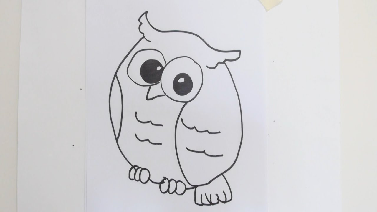 - How To Draw Cute Cartoon Owl - YouTube