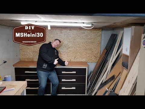 DIY | Schubladen für die Werkbank mit Einhell Flachdübelfräse -  Drawers for the Workbench