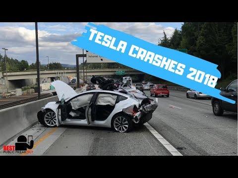 Tesla Crashes U0026 Autopilot Saves (2018) - Best Public Freakout #7
