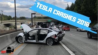 Tesla Crashes & Autopilot Saves (2018) - Best Public Freakout #7
