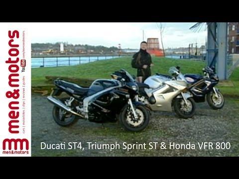 Sports Tourers Review: Ducati ST4, Triumph Sprint ST & Honda VFR 800
