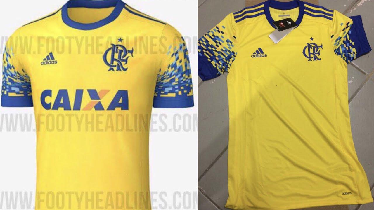 O que acharam da nova camisa do Flamengo  Confirmamos que essa que vazou  amarela e azul é real! e2d151ace3ff6
