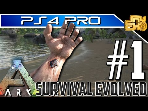 ARK on PS4 PRO - EP 1 - HOW TO LEVEL FAST AND EARLY SURVIVAL TIPS!!