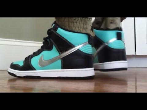 watch 0c611 3f10d Tiffany Nike SB Dunk High On Feet Review