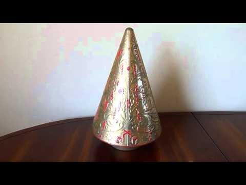 Rotating Musical Christmas Tin Tree