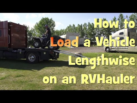 How to Load a Car ATV or Jeep Lengthwise on an RVHauler