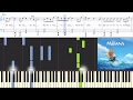 [Moana] You're Welcome (Jordan Fisher version) (Synthesia Piano Tutorial w/Lyrics)