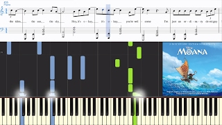 Video [Moana] You're Welcome (Jordan Fisher version) (Synthesia Piano Tutorial w/Lyrics) download MP3, 3GP, MP4, WEBM, AVI, FLV November 2017