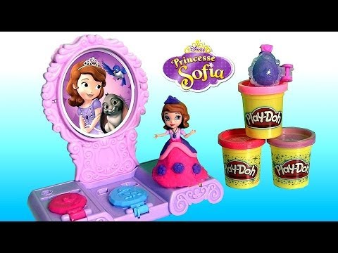 Play Doh Sparkle Sofia Amulet & Jewels Vanity Set Make Sofia the First Amulet Tiara Play Dough 2014