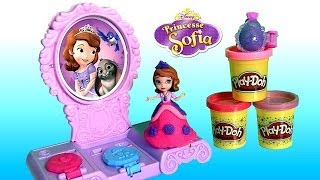NEW Play Doh Sofia Amulet & Jewels Vanity Set Make Sofia the First Amulet Tiara Play Dough 2014