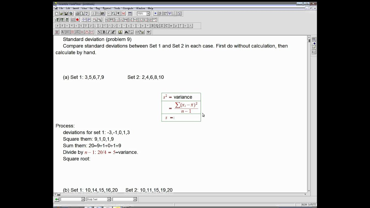 Standard deviation intuition and hand computation youtube standard deviation intuition and hand computation ccuart Image collections