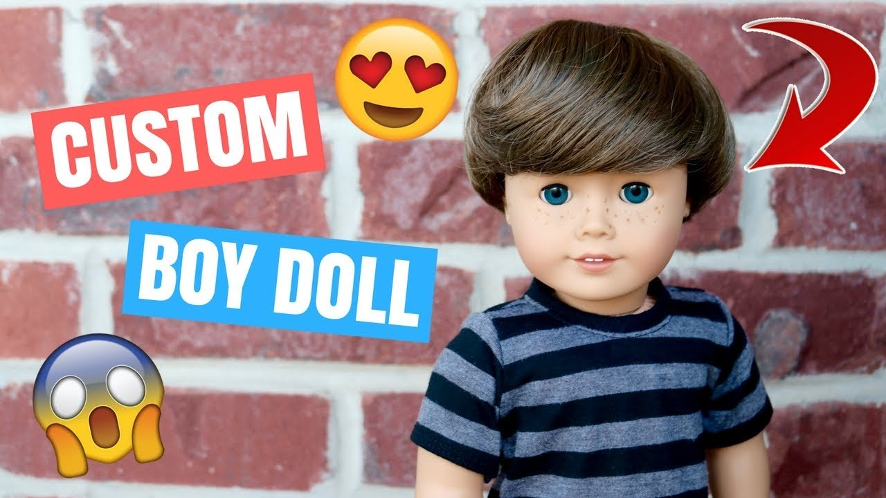 3c97f3a8c697a Making My Boy Doll! | How to Make a Custom American Girl Doll