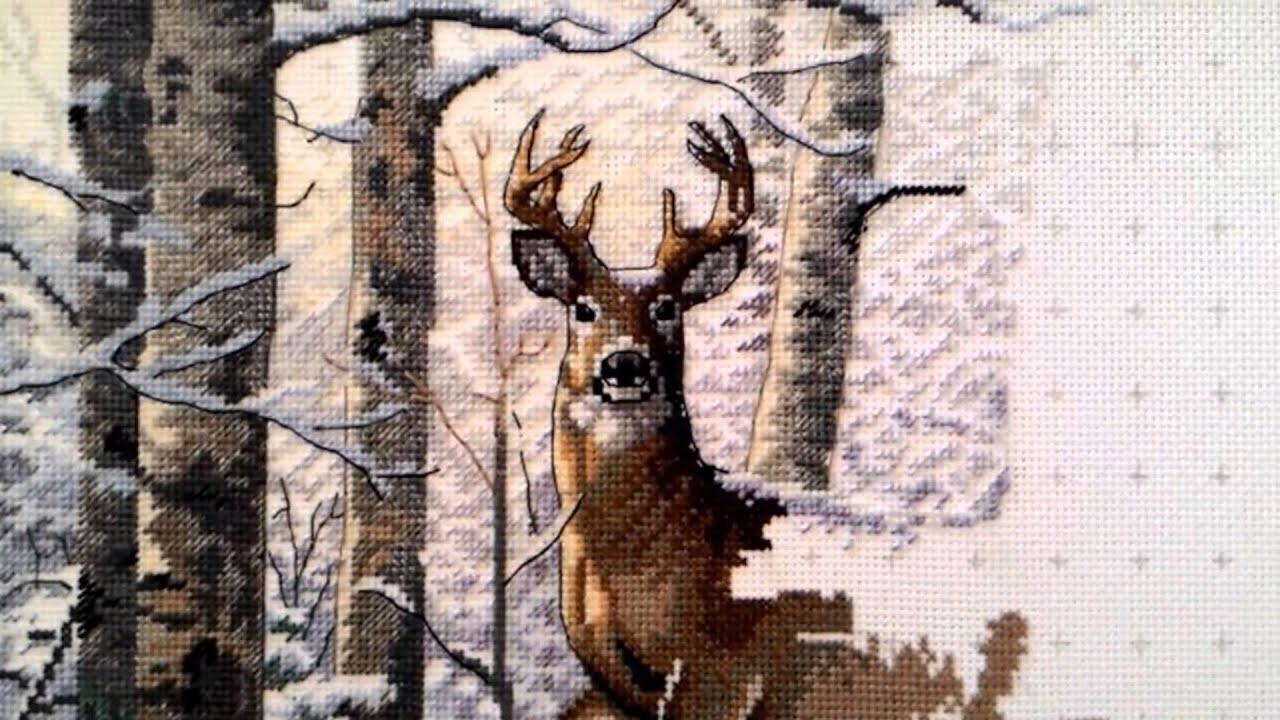 Дименшенс вышивка зима