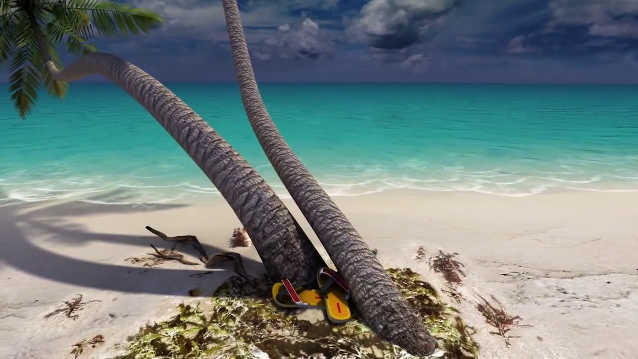 Sandy Beach 3D Praia Imagem Background Fundo