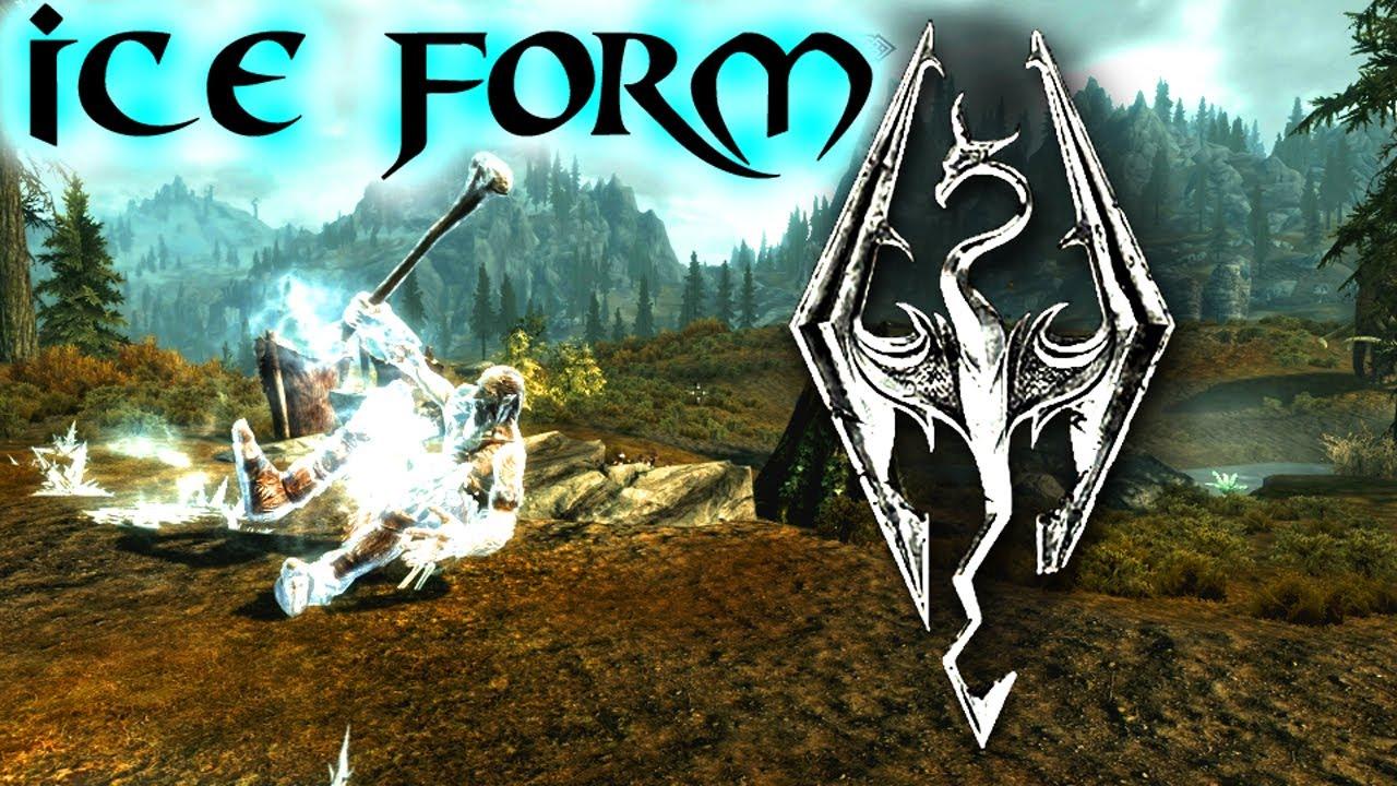 Skyrim: Dragon Shouts - Ice Form - YouTube