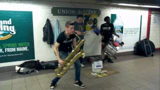 �������� ���� Пацаны отжигают в метро Нью-Йорка ������